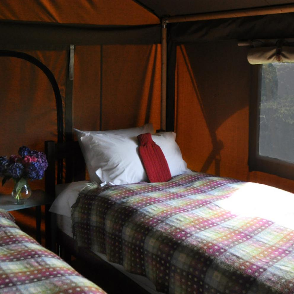 Tented Safari Lodge Bedroom Edale Gathering