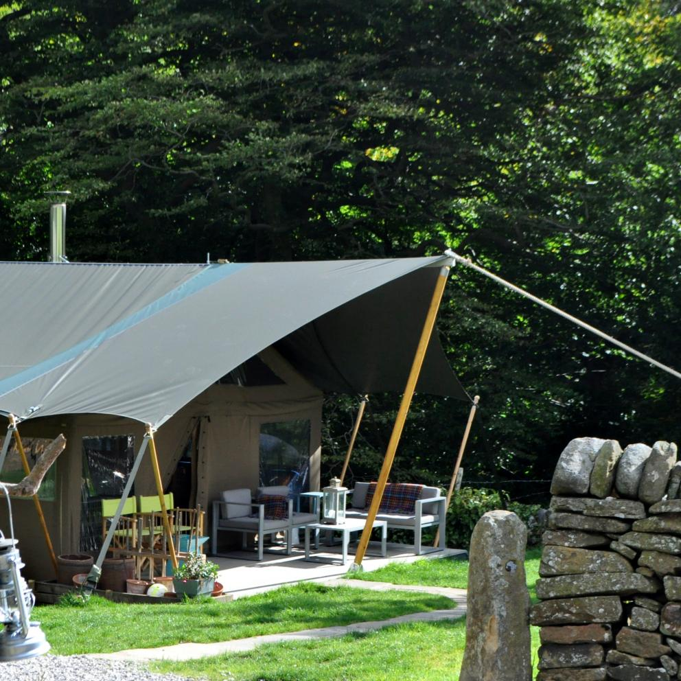 Glamping Tent Edale Gathering The Peak District