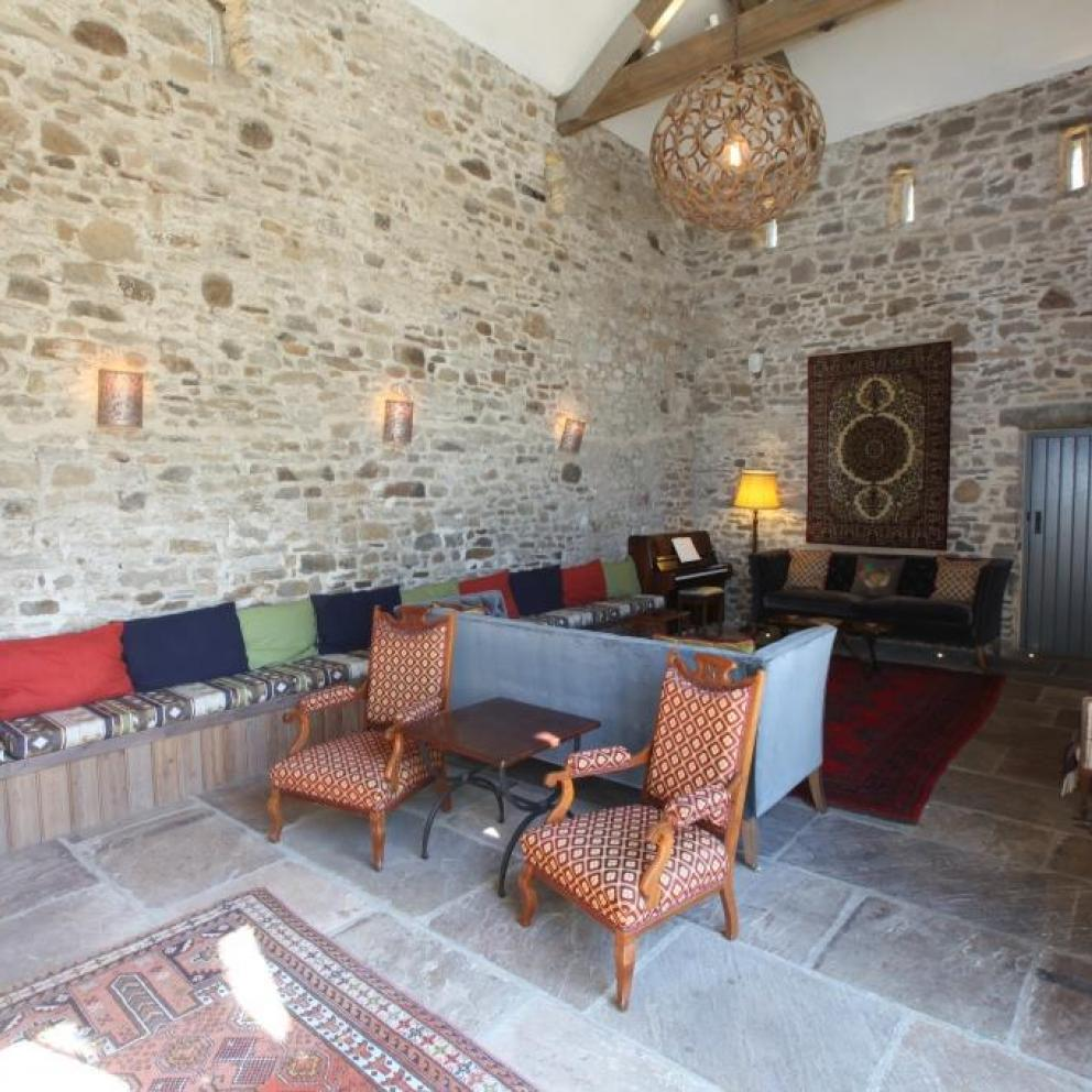 The Shooting Lodge Lounge Area at Edale Gathering